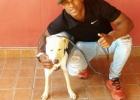 Nieko neįtariantį vyrą apšlapinęs šuo ne tik tapo žvaigžde, bet ir rado naujus namus