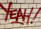 Grafiti ant tuščio lapo