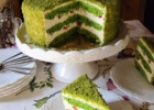 Velykėlių  tortas ( su špinatų biskvitu ir maskarponės ir Fantos kremu)