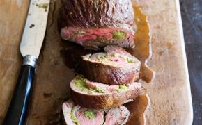 Flank Steak Stuffed with Asparagus Pesto