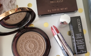 ARTDECO Bronzing Powder Bronzinanti pudra ir  ARTDECO Hydra Care Lipstick Lūpų dažai*