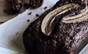 Chocolate Cacao Nib Banana Bread by pastryaffair on Flickr.