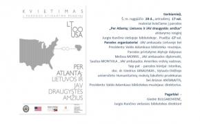 Per Atlantą: Lietuvos ir JAV draugystės amžius