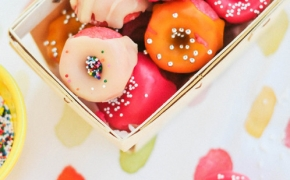 Pink Strawberry Mini DonutsSource