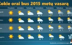 Kokie orai bus 2015 metų vasarą