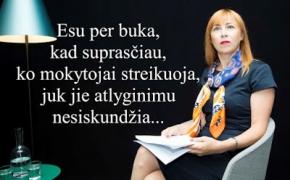 Visuotinis mokytojų streikas: Jurgita Petrauskienė toliau nepripažįsta savo klaidų