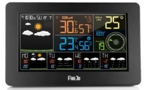 FanJu FJW4 Color Wi-Fi Weather Station kuponas
