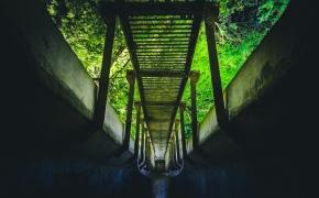 Nebenaudojamas tiltas per Meros upelį