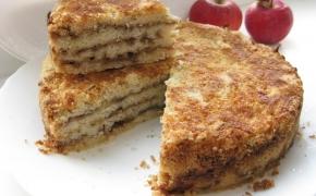 Birių produktų оbuolių pyragas (be kiaušinių)