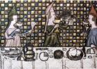 XIV a. garbingų damų pasilinksminimas