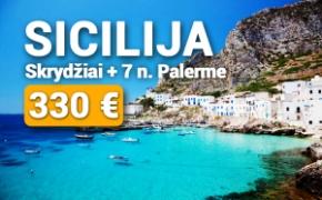 SICILIJA, ITALIJA! Skrydžiai + 7 naktys viešbutyje Palerme tik 330 €!