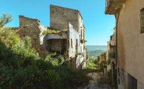 Poggioreale. Žemės drebėjimo sugriautas miestas