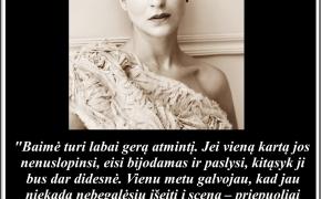 Šios dienos citata: Asmik Grigorian apie baimę