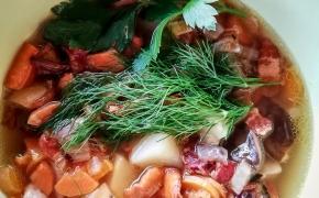 Užkepta grybų sriuba