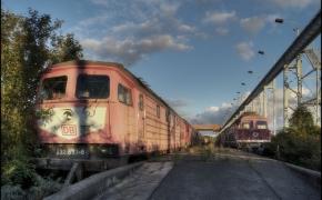 Šios Vokietijos traukinių kapinės tapo namais sovietiniams lokomotyvams