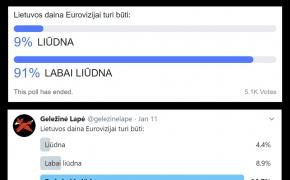 Eurovizijoje mus turi atstovauti liūdnas atlikėjas su labai liūdna daina