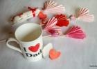 Popierinės širdelės su staigmenėle