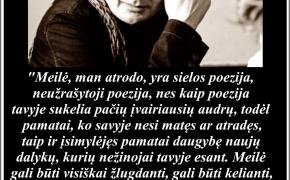 Šios dienos citata: Kęstutis Navakas apie meilę (In memoriam)