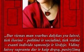 Šios dienos citata: Jurga Ivanauskaitė apie laisvę ir realybės plėtimą