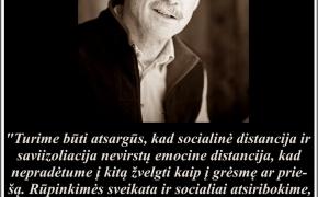Šios dienos citata: David Quammen apie socialinį ir emocinį izoliacijos poveikį žmonėms, koronavirusas