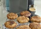 Migdoliniai sausainiai su cinamonu (Snickerdoodles) be miltų ir be balto cukraus