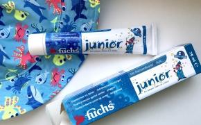 FUCHS Junior vaikiška dantų pasta su natrio fluoridu ir ksilitu, vaikams nuo 2 metų