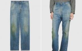 """""""Gucci"""" pradėjo prekiauti sunešiotais ir žole išteptais džinsais po 680 eurų"""