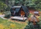 Nuotraukos: ruduo, miško namelis, interjeras, kaimiškas stilius, minimalizmas, namų dizainas