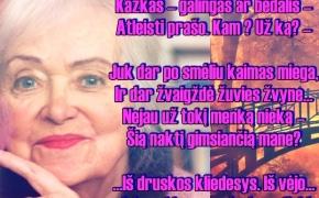 Poetė Ramutė Skučaitė šiandien mini 89-ąsias gimimo metines (Eilėraštis