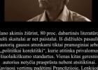 Šios dienos citata: Valdas V. Petrauskas apie grožinės verstinės literatūros rinkos pataikavimą