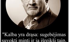 Šios dienos citata: Salman Rushdie apie kalbos galimybės kurti tiesą