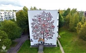 Gatvės menas Rokiškyje: Kai piešiniai ant pastatų tampa menu, o ne vandalizmu
