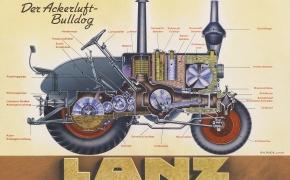 Keistas Lanz Bulldog variklis galėjo suktis 0 apsukų per minutę greičiu