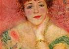 """Šios dienos nuotrauka: Pierre-Auguste Renoir portretas ir jo paveikslas """"Jeanne Samary"""" (1877)"""