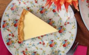 Varškės pyragas su sūria karamele