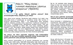 Interviu su Poko komanda SkaitykIT.lt žurnale