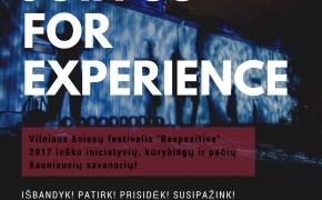 """Vilniaus šviesų festivalis """"Beepositive"""" kviečia savanorius"""